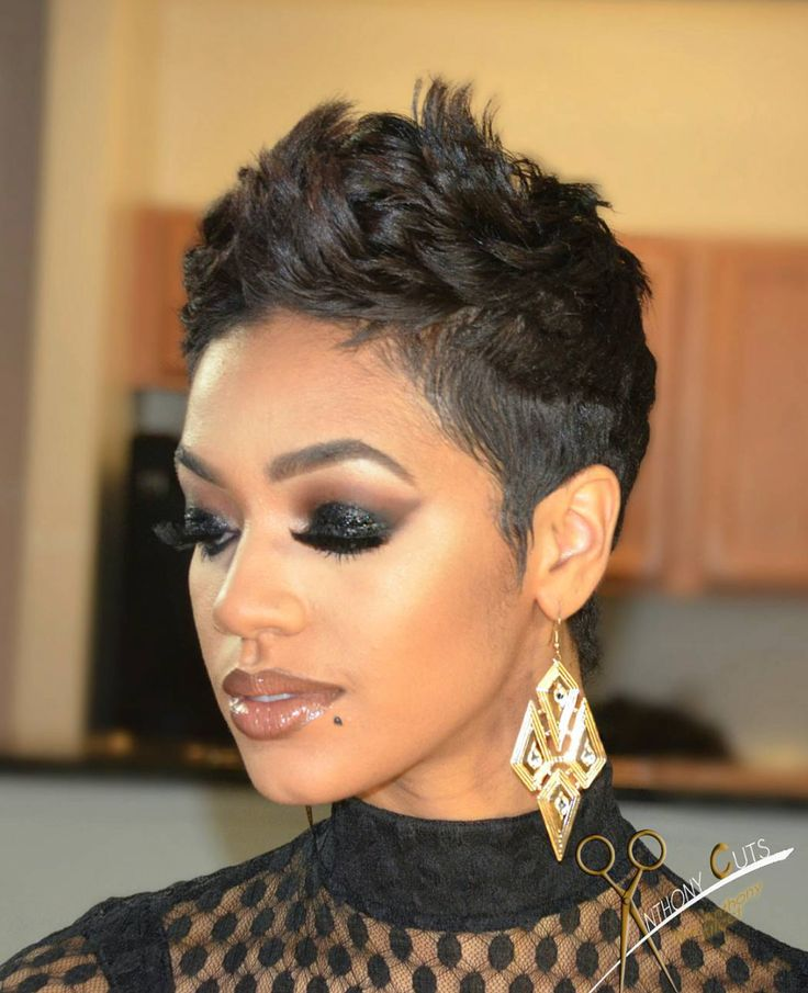 African American Short Hairstyles Custom 24 Best All Things Hair Images On Pinterest  Short Haircuts Hair
