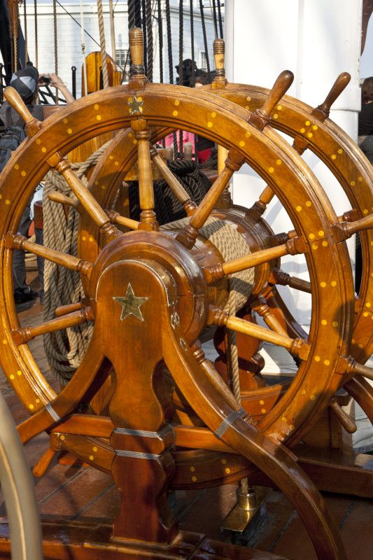 The Helm of the USS Constitution