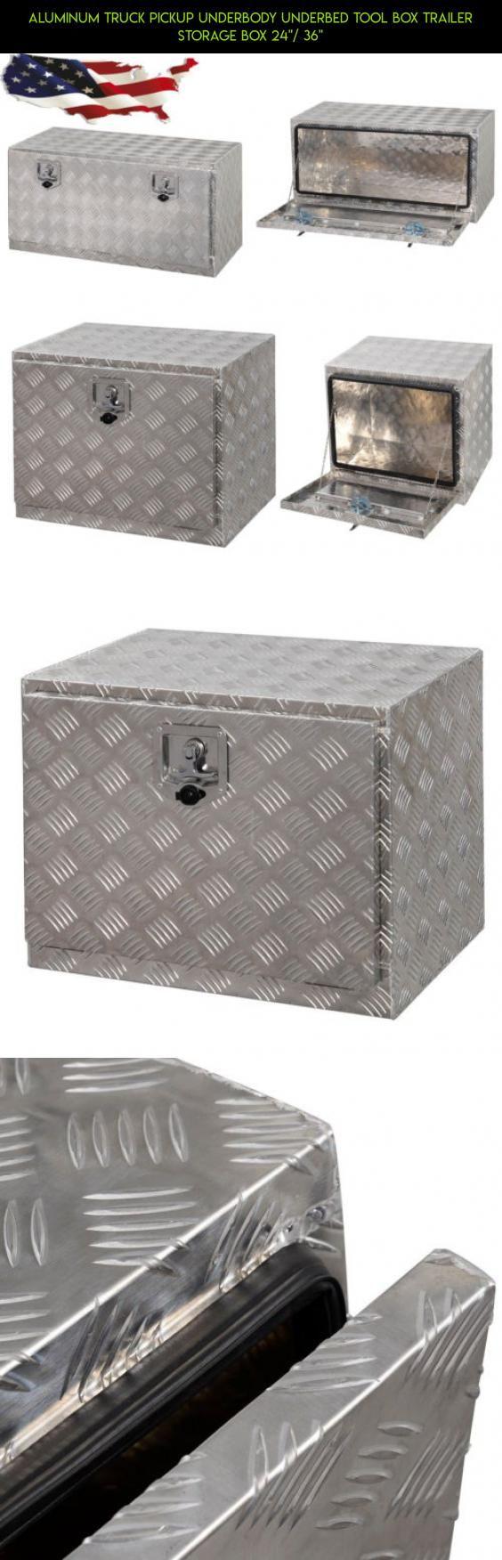 Aluminum truck pickup underbody underbed tool box trailer storage box 24 36