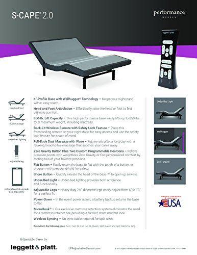 Split Queen Leggett And Platt Scape 2 0 Adjustable Bed With 12