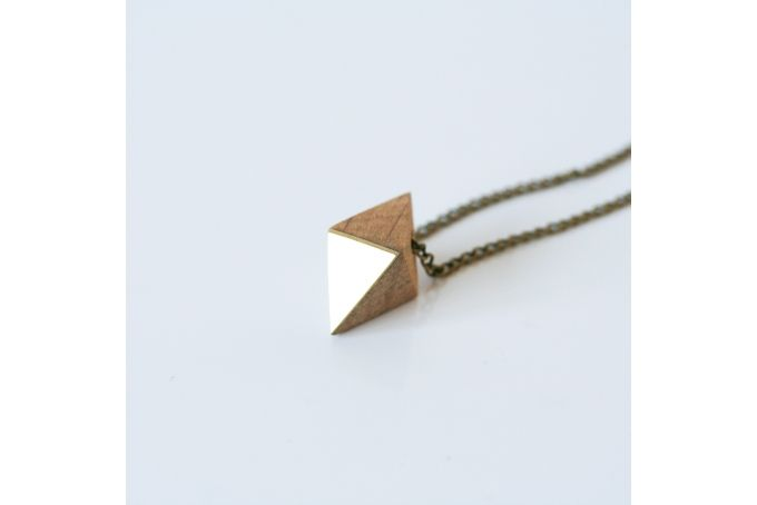 Octahedron Necklace by Past Present on hellopretty.co.za
