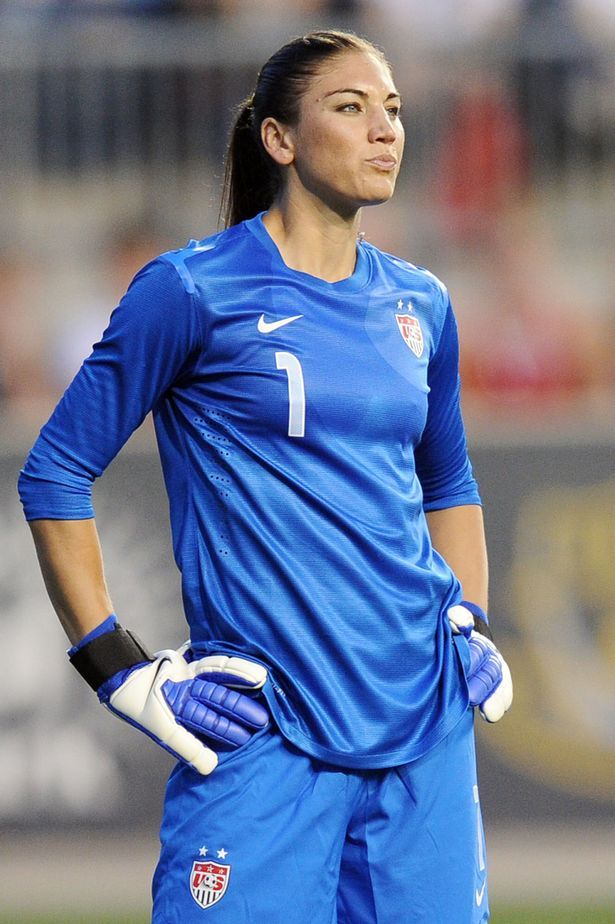 Hope Solo- totally my friend Jordan, I'm Alex Morgan and shes Hope Solo! She plays goal keeper and I'm forward!