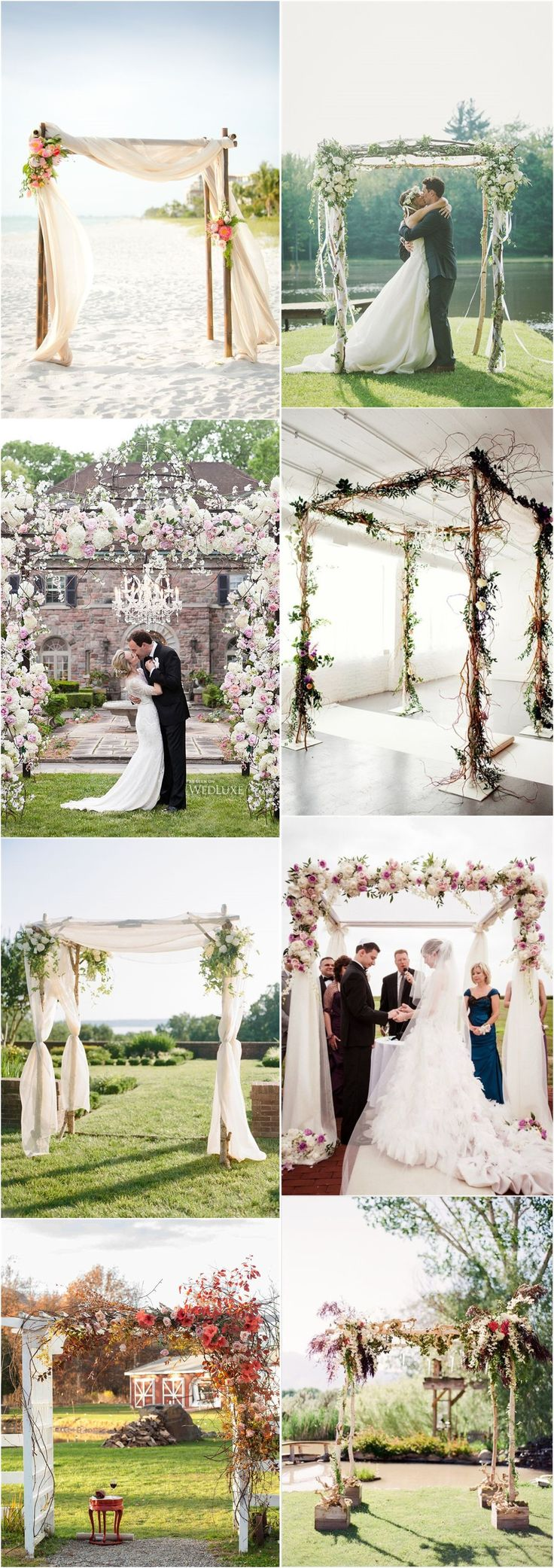91 best outdoor weddings images on pinterest rustic weddings imaginative unique floral wedding chuppah altar decoration ideas junglespirit Gallery