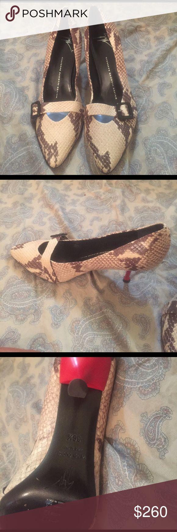 Giuseppe heels Authentic Giuseppe snake print heels worn once Giuseppe Zanotti Shoes Heels