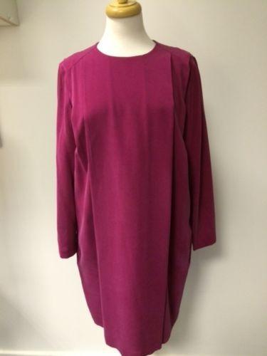 Sportmax BNWT pink silk dress 3/4 sleeves UK12 | eBay