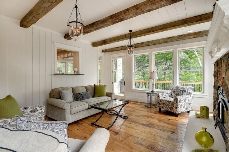 faux ceiling beams Porch Transitional with armchairs beams ceiling lights exposed beams exposed