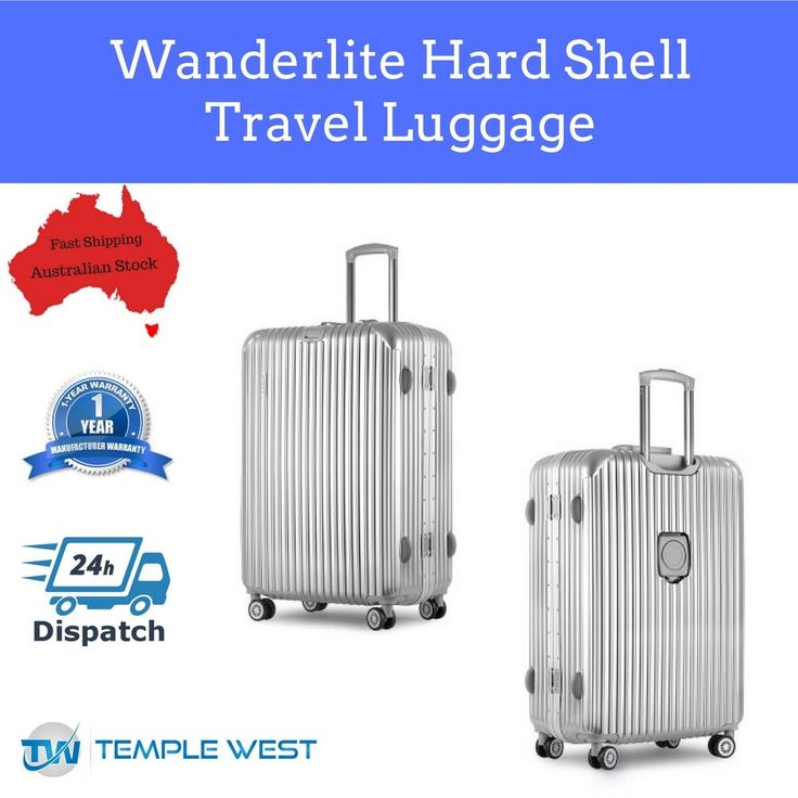Suitcase Hard Shell Travel Luggage Lockable Silver Trolley Large 110L Capacity