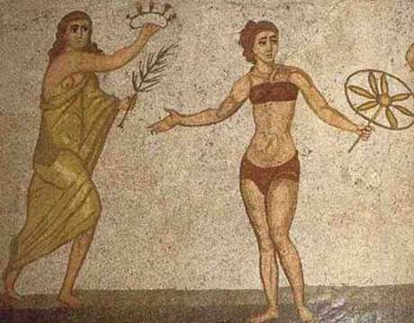 78 best roman perfection images on pinterest roman empire roman mosaic with girl in bikini 4th century ad fandeluxe Images