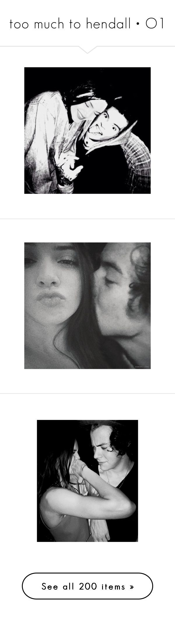 """too much to hendall • O1"" by cupcakes-are-cool ❤ liked on Polyvore featuring hendall, manip, couples, kendall jenner, jendall, harry, harry and kendall, harry styles, instagram and pictures"