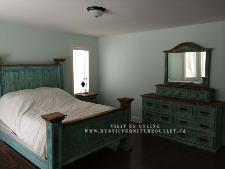 14 Best Turquoise Wash Rustic Bedroom Furniture Images On