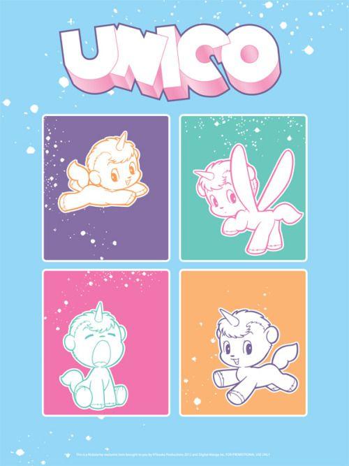 TEZUKA Osamu (手塚治虫) , Unico / ユニコ Poster from Unico's Kickstarter project.