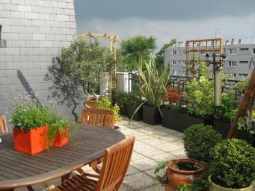 98 best balcons et terrasses images on pinterest - Idee deco terrasse appartement ...