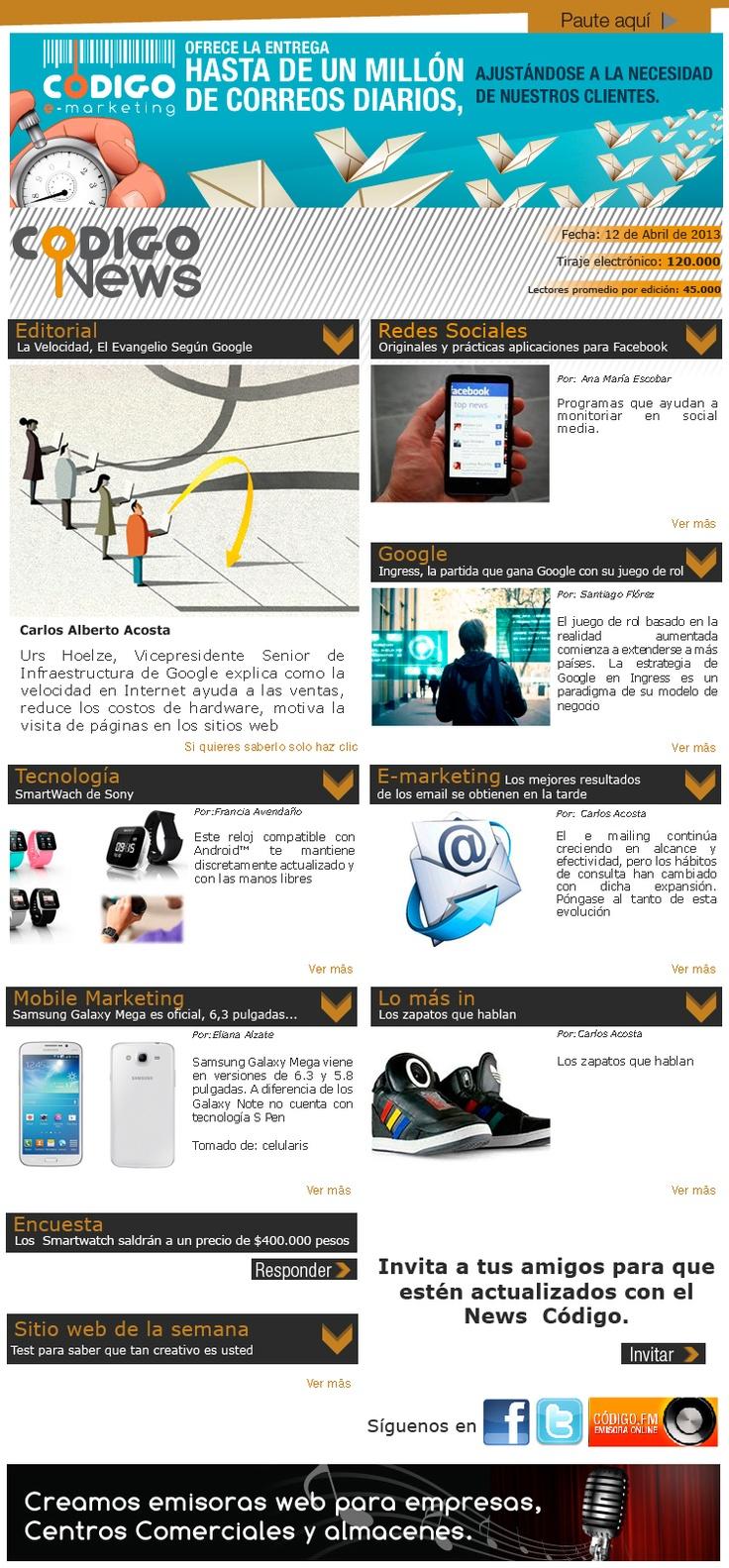 Comparte lo último en e-mailing, redes, mobile marketing y tecnología. News #63.