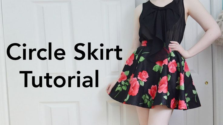 how to make a circle skirt dress