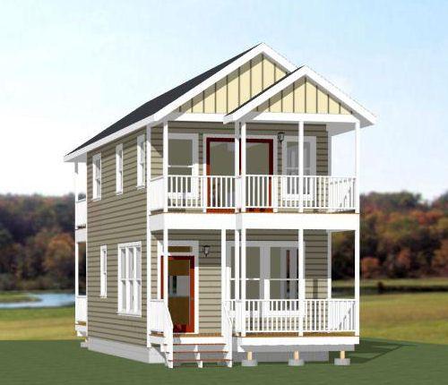 16x30 дом ... #16X30H12D -- 873 кв. футов - отличное поэтажные планы