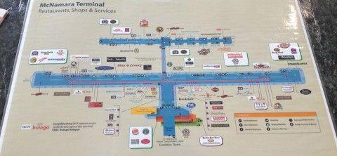 Mapa do aeroporto de Detroit, terminal McNamara