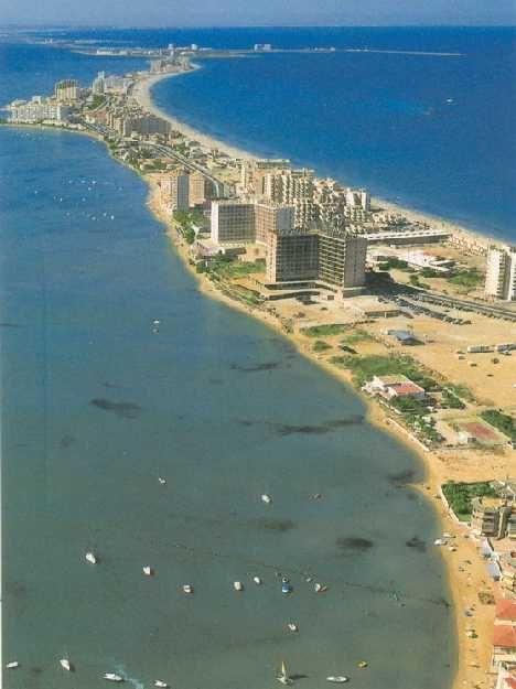 Beach on both sides -- Natural Sand Split - Le Manga del Mar Menor, Spain