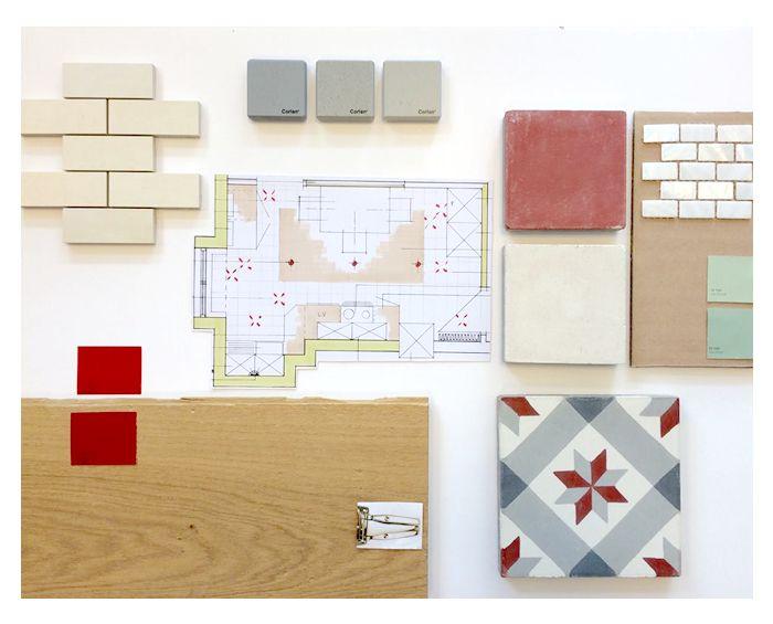 planche-tendance-déco-2015-ambiance-rénovation-appartement-lyon-cuisine-rétr-carreaux-de-ciment-parquet-ver-et-rouge-pepper-butter-architecte-intérieur-