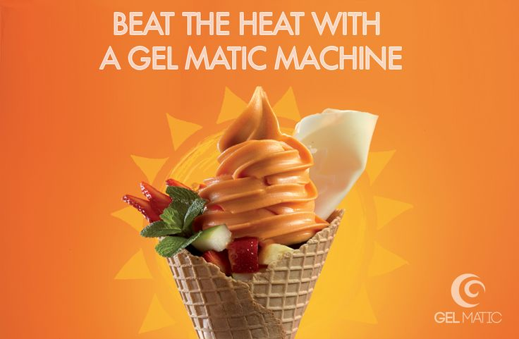 Beat the #heat with a Gel Matic #machine! #welcomeJuly #July #Luglio #gelato #icecream #gelmatic  www.gelmatic.com