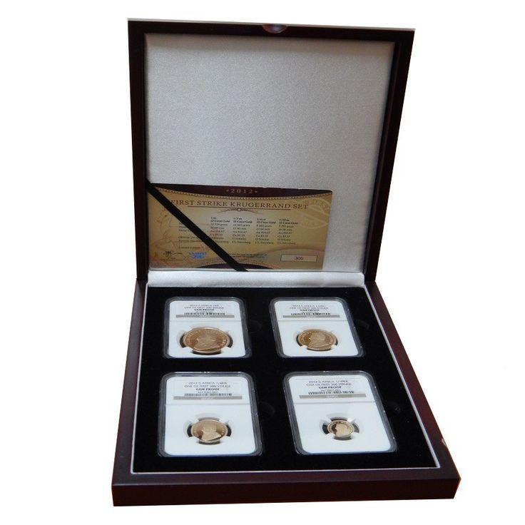 2012 1.85 oz Gold South African Krugerrand NGC Gem Proof 4-Coin Set w/Box&COA | Bullion Exchanges