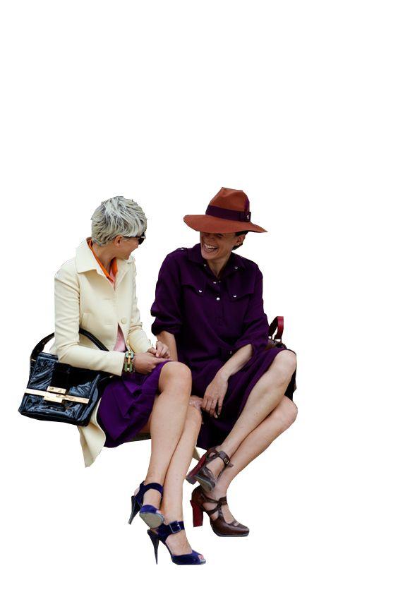 cutout womens sitting
