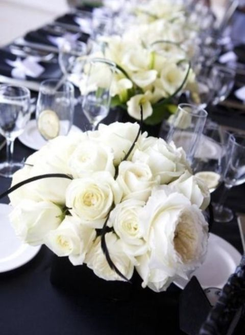46 Cool Black And White Wedding Centerpieces  HappyWeddcom