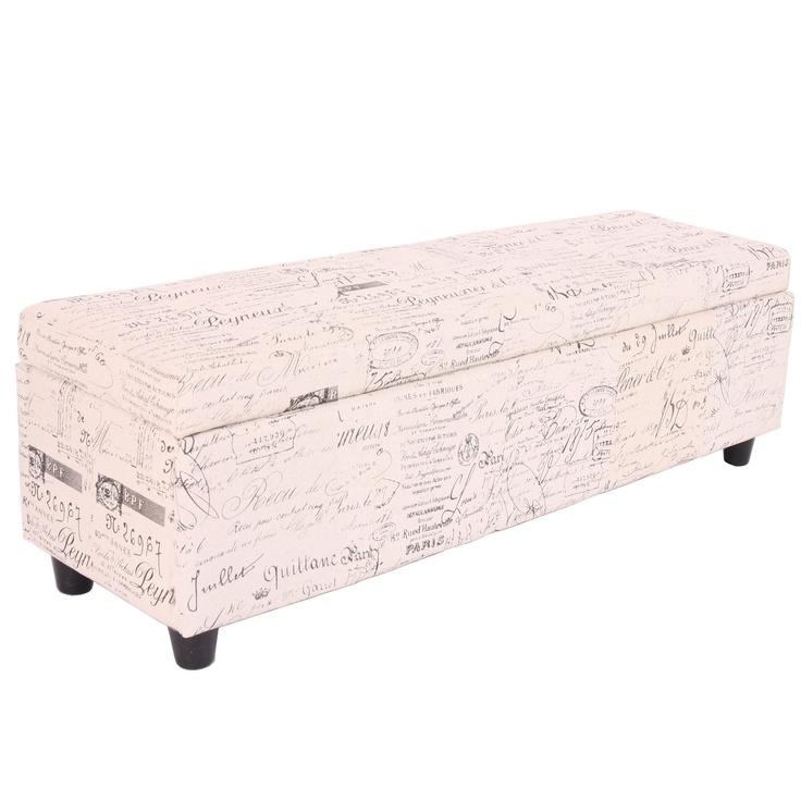 eBay   Banc/banquette/coffre de rangement Kriens, 112x45x45cm, tissu
