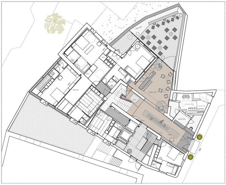 Caro Hotel / Francesc Rifé Studio. Ground Floor Plan    Carrer de l'Almirall, 14, 46003 València, Valencia, Spain