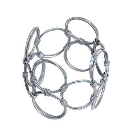 thumbnail for Wide oblong bangle - grey