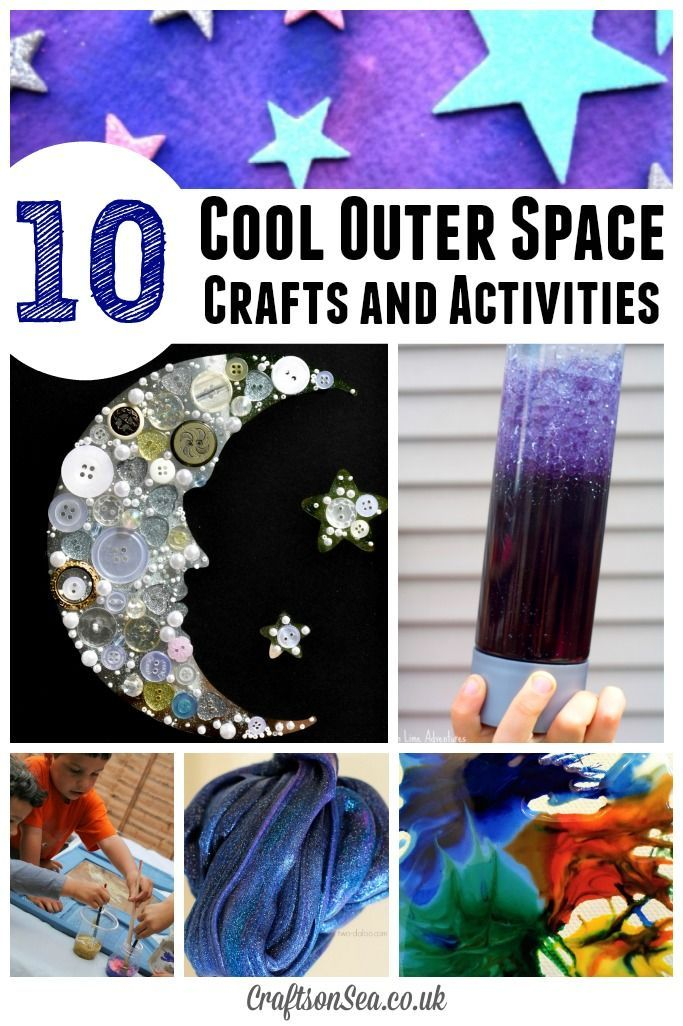 10 of the coolest outer space crafts for kids you'll find on the internet! Nourish your kids love of space with these awesome activities.