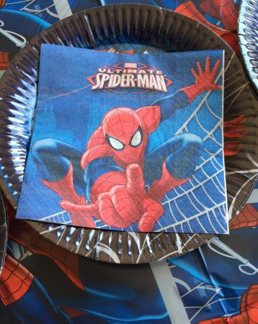 Spiderman Ultimate Beverage Napkins. $3.95 pack of 16. Free Shipping.