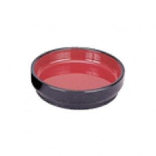 Side Dish Tray Medium      Availability : In Stock     Dimentions : 94mm x 25mm     Pieces Per Item : 1     Colour : Red & Black     Material : ABS & Melamine     Finish : Laquer     Item Code : D5-008     Weight : 30g  Price : $1.75