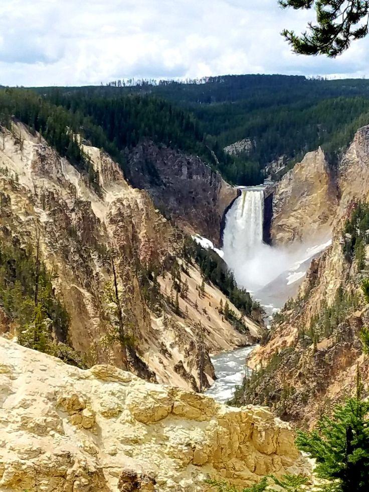 Artist Point lower falls Yellowstone Artist point