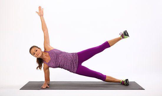 No Equipment Necessary: Side-Plank Leg Lift 15-20 reps per side
