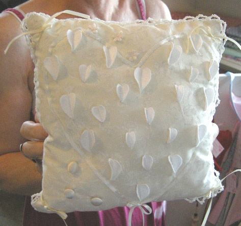 Wedding Ring Cushion by January Rose