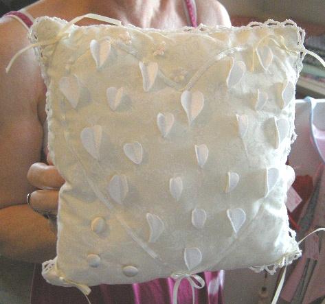 Wedding Ring Cushion by January Rose