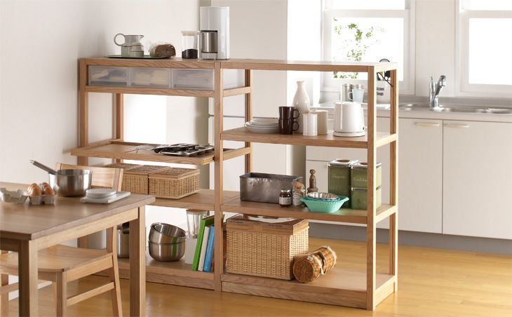 Household goods Special | | Muji store net storage of Muji | oak shelf unit