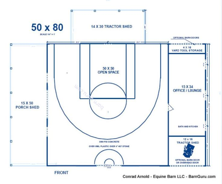 Half court basketball barn rustic home ideas pinterest for Basketball court dimensions