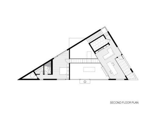 Residência Komai,Planta Baixa - Pavimento Superior
