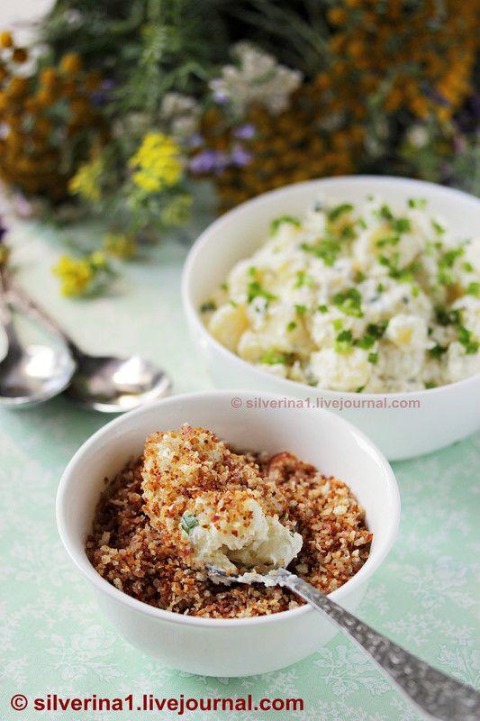 Тёплый картофельный салат с беконом панграттато - П И Щ Е Б Л О Г. О еде и не только