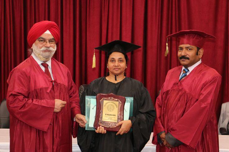 Dr. Malabika Misra receiving certificate of  Fellowship in Minimal Access Surgery at World Laparoscopy Hospital. For more detail please log on to www.laparoscopyhospital.com