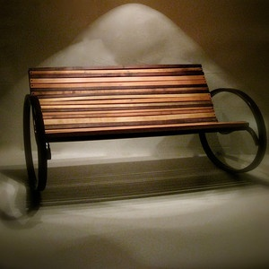 Why settle for a rocking chair - have a rocking bench! Nice. Pant Rocking Bench now featured on Fab.