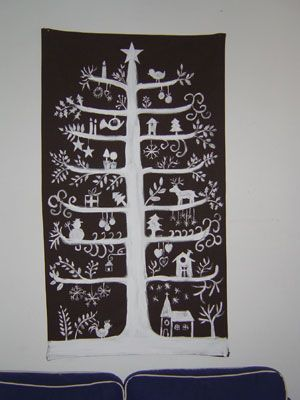 Scandinavian Christmas Tree--maybe something we can do in lieu of a real one...