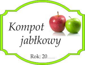 Naklejka na jabłkowy kompot