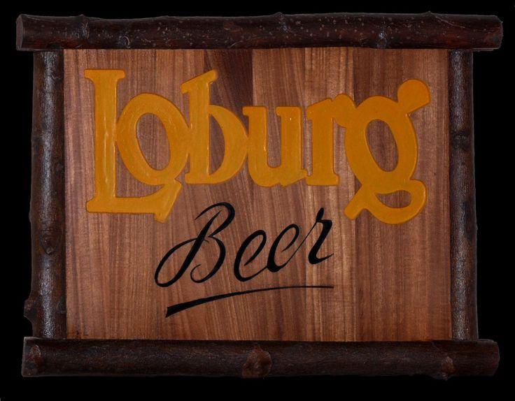 Loburg beer Incisione colorata su tavola di rovere