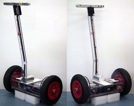 Self-balancing transport is Arduino-controlled