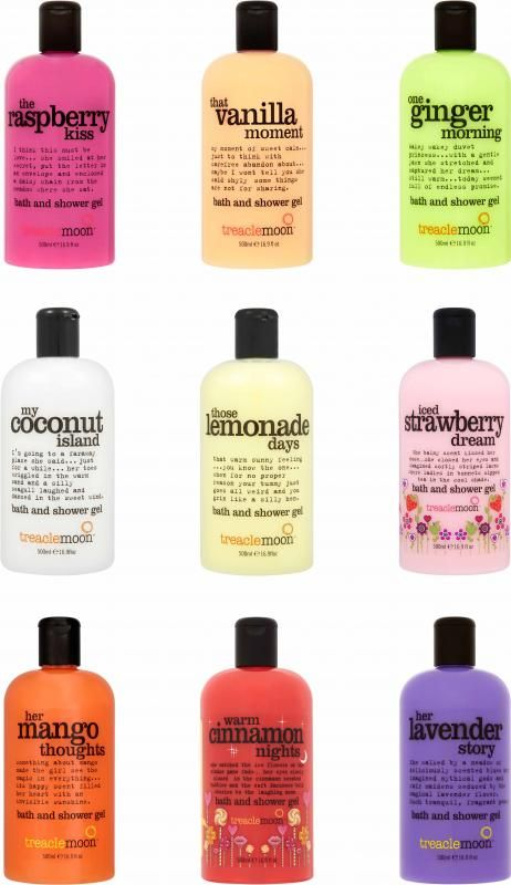 Treacle Moon is een vrolijke bad- en douchesensatie uit Engeland. Vanaf november 2013 zijn deze kleurrijke, geurige producten ook verkrijgbaar in Nederland.