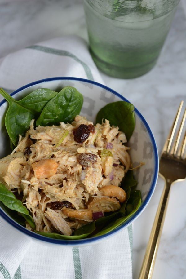 Curried Chicken and Pear Salad #whole30