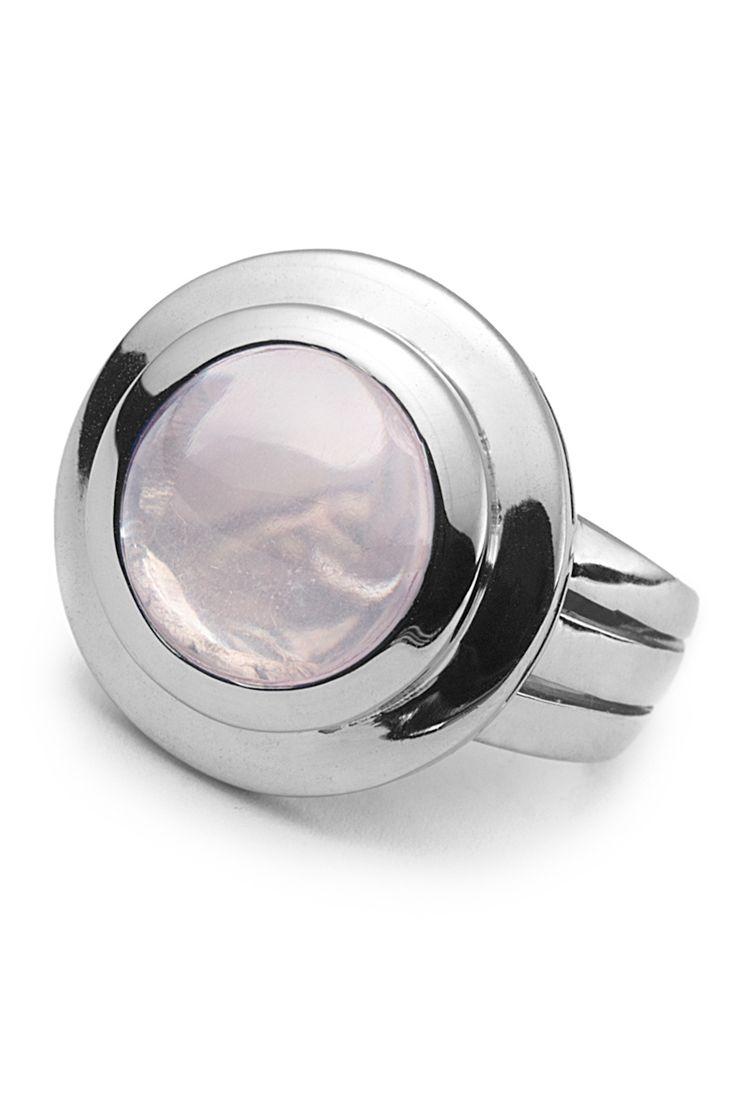 Gemstone Silver Cocktail Ring