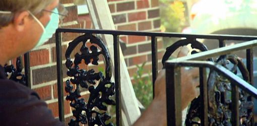 Painted Iron Railings For Porch On Repairing And Painting Wrought Handrails To Find Out More In 2018 Pinterest